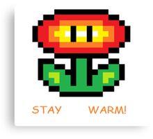 Fire Flower Pixel Art Canvas Print