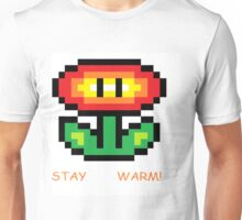 Fire Flower Pixel Art Unisex T-Shirt