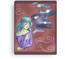 smokey space Canvas Print