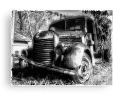 TAM Truck B/W Canvas Print