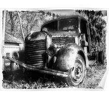 TAM Truck B/W Poster