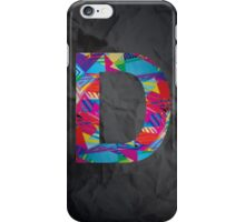 Fun Letter - D iPhone Case/Skin