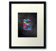 Fun Letter - E Framed Print