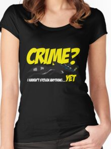 Crime? Women's Fitted Scoop T-Shirt