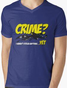 Crime? Mens V-Neck T-Shirt