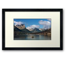 St. Mary Lake and Wild Goose Island. 2 Framed Print
