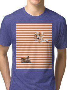 Cat vrs Dog Tri-blend T-Shirt