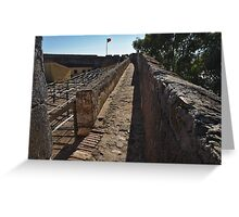 Walking on the Castle Wall Greeting Card