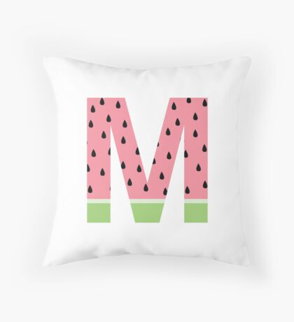 M Watermelon Throw Pillow