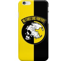 MGS - Militaires Sans Frontieres Logo iPhone Case/Skin