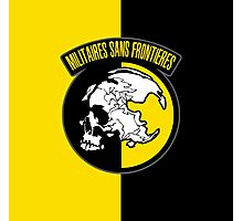 MGS - Militaires Sans Frontieres Logo Photographic Print