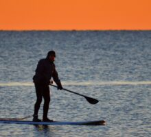 Standup Paddleboarding Across Nicoll Bay At Dawn | Great River, New York Sticker