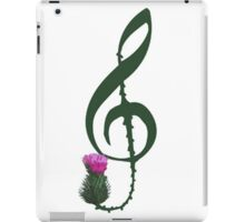 Treble Clef, thistle flower iPad Case/Skin