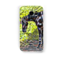 Abstract horse standing in paddock Samsung Galaxy Case/Skin