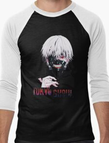 Kaneki Ken Tokyo Ghoul Anime Men's Baseball ¾ T-Shirt