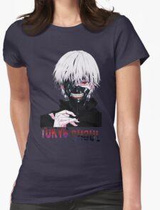 Kaneki Ken Tokyo Ghoul Anime Womens Fitted T-Shirt