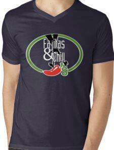 Fajitas and Chill Mens V-Neck T-Shirt