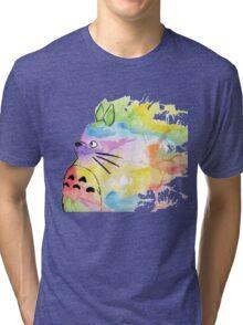 Rainbow Totoro  Tri-blend T-Shirt