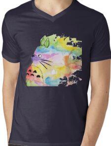 Rainbow Totoro  Mens V-Neck T-Shirt
