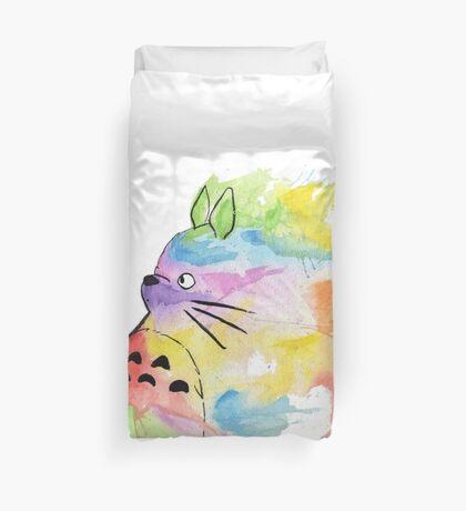 Rainbow Totoro  Duvet Cover