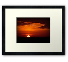 Red sky at night, sailor's delight... Framed Print