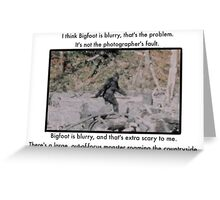 Mitch Hedberg Bigfoot Greeting Card