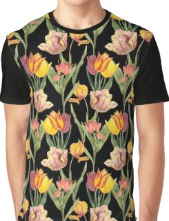 Vintage Floral Pattern | No. 3A | Tulips Graphic T-Shirt