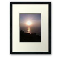 Evening Sky at cabo da roca Framed Print