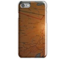 Map Of Europe In The Briefing Room Of The American Airpower Museum | Farmingdale, New York iPhone Case/Skin