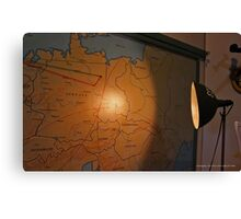 Map Of Europe In The Briefing Room Of The American Airpower Museum | Farmingdale, New York Canvas Print