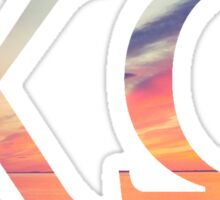 Chi Omega Sunset Sticker