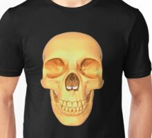 human skull gold Unisex T-Shirt