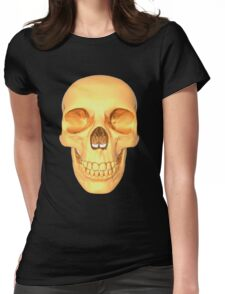 human skull gold Womens Fitted T-Shirt