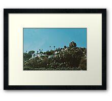 Houses in the Hills (California) Framed Print