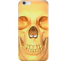 human skull gold iPhone Case/Skin