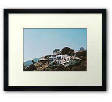 Houses in the Hills No.2 (California) Framed Print