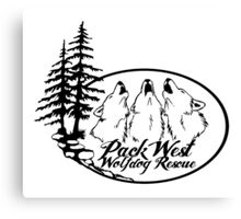 Pack West Wolfdog Rescue Canvas Print
