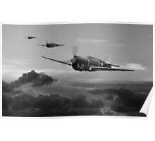 Pacific Warhorse - USAAF Version - BW Poster