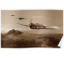 Pacific Warhorse - USAAF Version - Sepia Poster