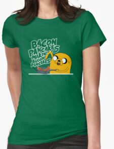 "Jake - Adventure Time ""pancakes"" Womens Fitted T-Shirt"
