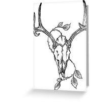 Skull Thorns Greeting Card