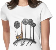 A giraffe named Kennett  Womens Fitted T-Shirt