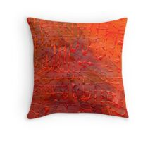 The Wall - Original Red Colour Throw Pillow