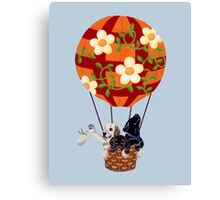 Hot Air Balloon Labradors Canvas Print