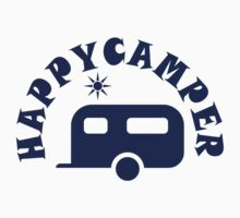 Happy Camper - RV Travel Trailer Camping / Boondocking Kids Tee