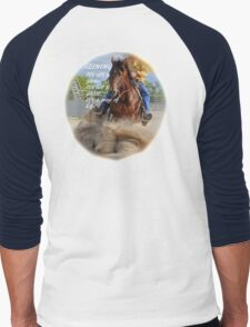 REINING HORSE. Men's Baseball ¾ T-Shirt