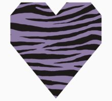 0065 Bright Lavender Tiger One Piece - Short Sleeve