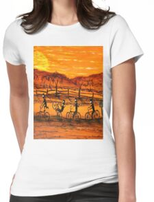 """Ned Kelly Gang Easy Riders"" Original Australian Acrylic Painting;  SOLD Womens Fitted T-Shirt"