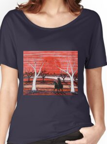 """Scared Ned"" Original Australian Acrylic Painting; For Sale Women's Relaxed Fit T-Shirt"