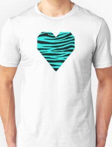0068 Bright Turquoise Tiger Unisex T-Shirt